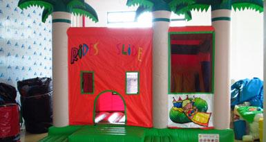 Jumping Castle Slide Combo