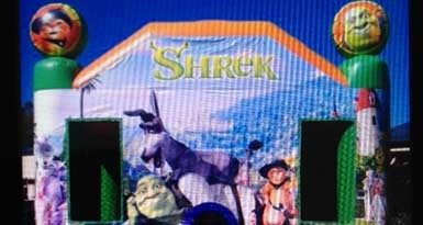 Shrek jumping castle